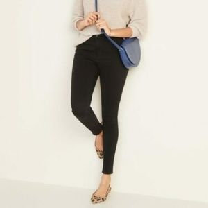 High-Rise Rockstar Sculpt Super Skinny Black Jeans
